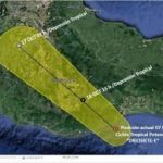 se espera se intensifique a Tormenta Tropical las próximas horas y se desplace al oeste hacia la costa central del estado de Oaxaca.