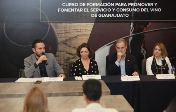 Curso de Formación para Promover y Fomentar el Servicio y Consumo del Vino de Guanajuato.