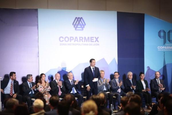 festejos del 90 Aniversario de COPARMEX Zona Metropolitana de León.