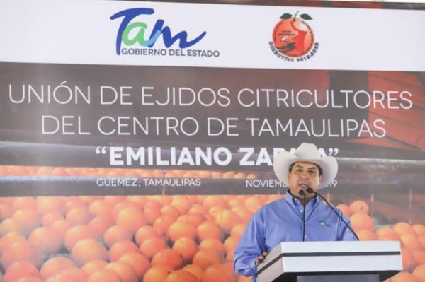 apoyo del Gobierno de Tamaulipas a productores de cítricos