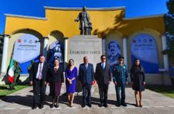 conmemoración del 190 Aniversario de Francisco Zarco Mateos,