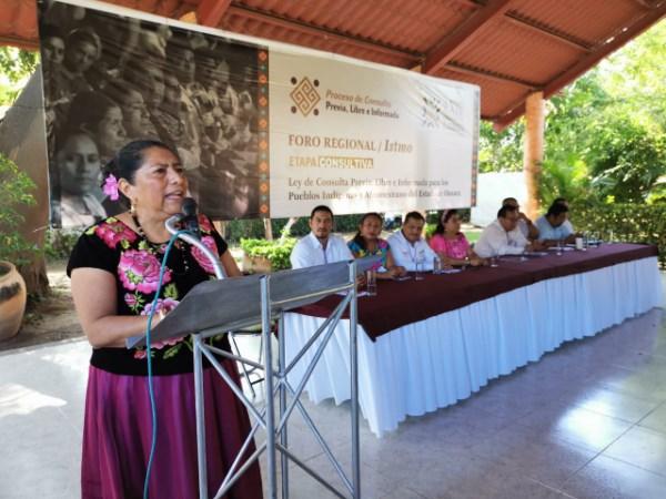 foro regional de consulta de la Ley de Consulta Previa, Libre e Informada para los Pueblos Indígenas y Afromexicano del Estado de Oaxaca