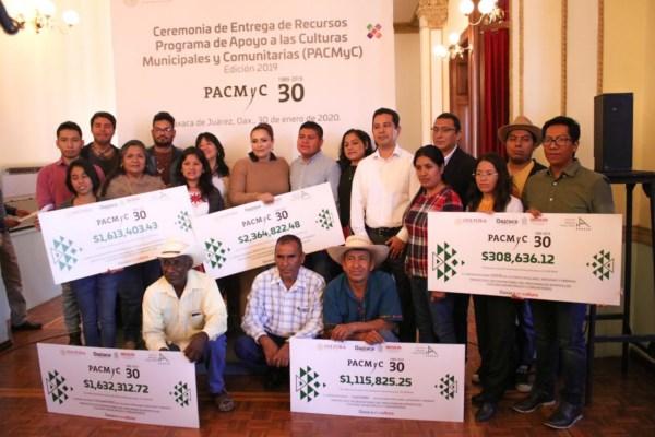 l Programa de Apoyo a las Culturas Municipales y Comunitarias (PACMyC), beneficiando 84 proyectos culturales.