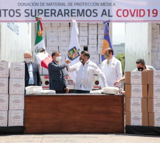 KIA Motors México donó hoy equipo médico de protección al Gobierno de Nuevo León