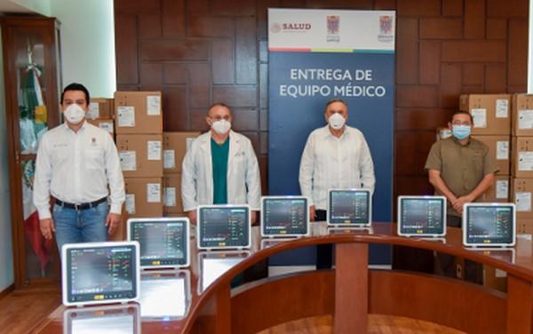 Entrega a hospitales 30 nuevos monitores de signos vitales