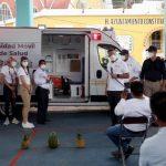 En Candelaria Loxicha el Mandatario entregó una ambulancia de traslados,