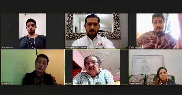 · En videoconferencia se reunió el equipo directivo del plantel con autoridades del Instituto
