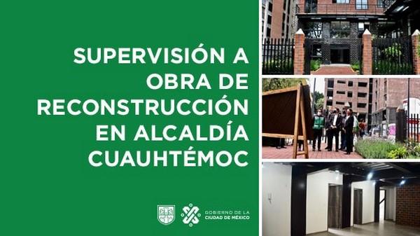 Continúa reconstrucción de la CDMX