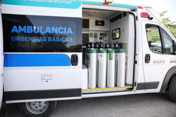 -Unidades de traslado de emergencia de la SSY reciben 20 tanques de oxígeno,