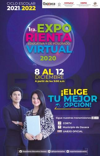 · Del 8 al 12 de diciembre de 2020 en las plataformas de Facebook Live de CORTV, municipio de Oaxaca de Juárez y el canal de YouTube de UABJO oficial