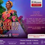 """Se presentará este jueves 21 el concierto virtual """"Flores de Luz"""", por la cantante oaxaqueña Martha Toledo ante el público nuevolense"""