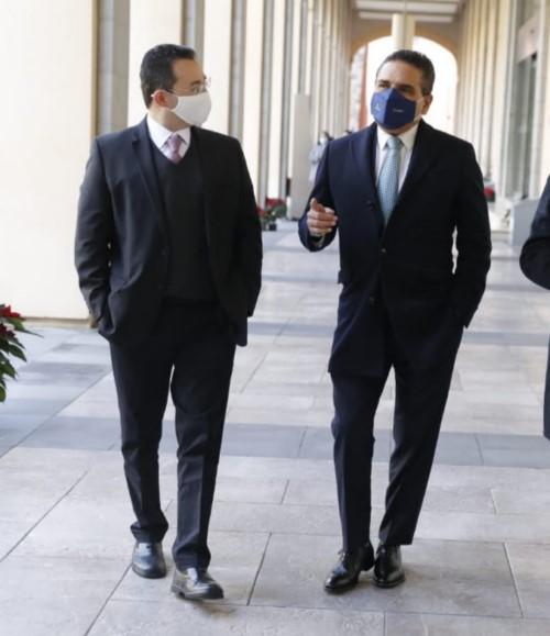 Se reúne Silvano con el titular de la Unidad de Coordinación con Entidades Federativas