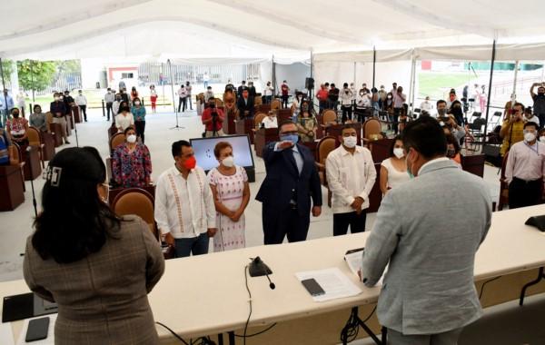 Jesús Peimbert Calvo, como titular de la Fiscalía General del Estado de Oaxaca (FGEO), cargo que ocupará durante los próximos 7 años.