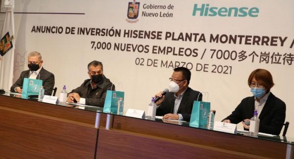 La trasnacional china construirá planta de manufactura de electrodomésticos en Salinas Victoria.