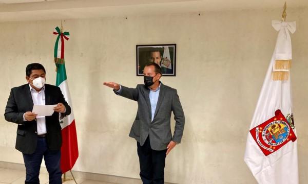 Raúl Antonio Castillejos Solís, como nuevo comisionado de la Policía Estatal de Oaxaca.