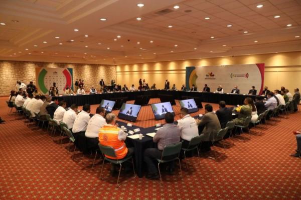 protesta a las y los integrantes del Comité Estatal de Emergencias y Desastres para la Temporada de Lluvias y Ciclones Tropicales 2021