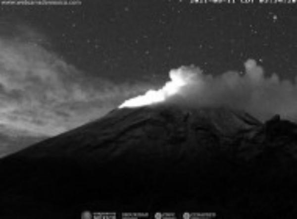 Monitoreo volcán Popocatépetl