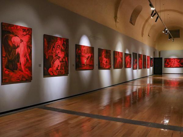 del Colectivo Gálvez Berra & Velasco, integrada por 43 pinturas de gran formato.