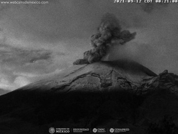 se identificaron 181 exhalaciones acompañadas de vapor de agua, gases volcánicos y bajo contenido de cenizas.