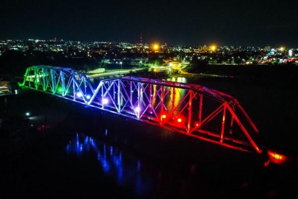 iluminación led que permitirá proyecciones alusivas a festividades y conmemoraciones