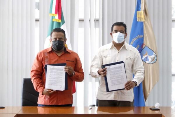 Carta de Intención con el Presidente Municipal Electo de San Pablo Villa de Mitla, Esaú López Quero.